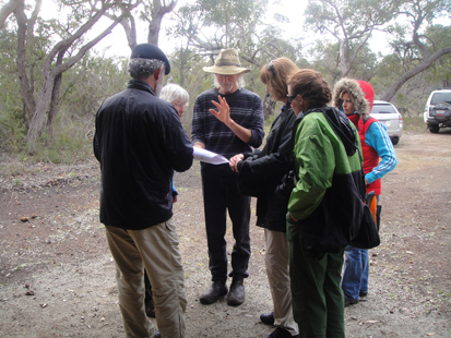Peter Luscome and Dr Julie Ardley & overseas botanist